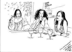 Desenho NicolePibeautSonia, Claudia, MargaretCafecom Letras BH
