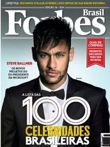 Neymar no topo na Forbes