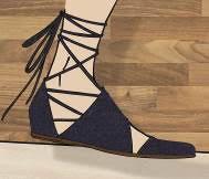 Sandálias com amarração(2)